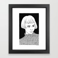 Chic Lady Framed Art Print