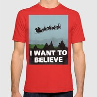 I Want To Believe (in Sa… Mens Fitted Tee Red SMALL