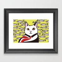 Cat&fish Framed Art Print