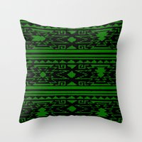 Aztec 3# Throw Pillow