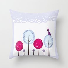 Pastel Dream Trees Throw Pillow