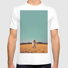 Hello SMALL Mens Fitted Tee White
