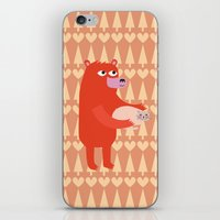 Bear and cat BFF iPhone & iPod Skin