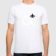 And Fly Ash Grey Mens Fitted Tee SMALL