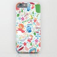iPhone & iPod Case featuring Ponyo Pattern - Studio Ghibli by Teacuppiranha