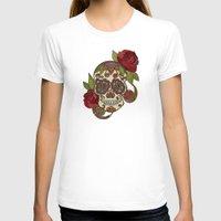 sugar skull T-shirts featuring Sugar Skull by Valentina Harper