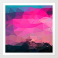 Poly-Sunrise  Art Print