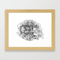 Disorderton (3D papercut) Framed Art Print