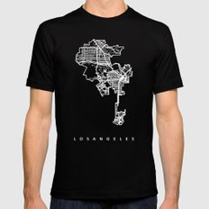 LOS ANGELES SMALL Mens Fitted Tee Black
