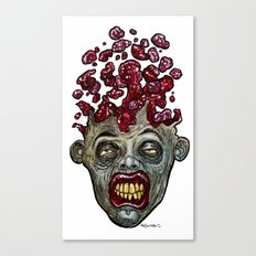 Heads of the Living Dead  Zombies: Go Boom Zombie Canvas Print