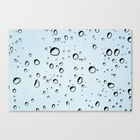 Blue Rain Drops Canvas Print