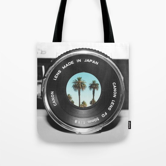 focus on palms Tote Bag