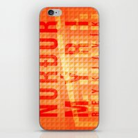 Nordurmyri Orange iPhone & iPod Skin