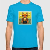 Because I'm a wild animal Mens Fitted Tee Teal SMALL