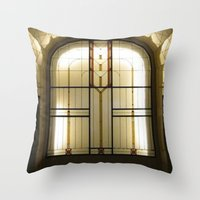 Candle Glass Throw Pillow