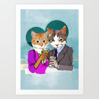 Kitty Cocktails Art Print