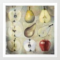 Fruit collage Art Print