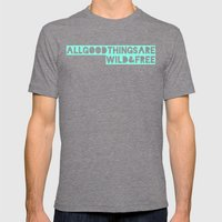 All Good Things Mens Fitted Tee Tri-Grey SMALL