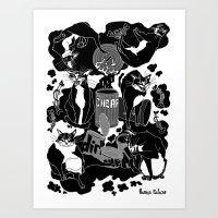 Art Print featuring Dirt Cheap (2008) by Mexican Zebra