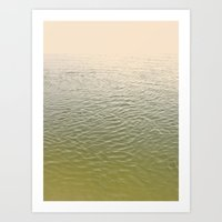 Listen to the sea Art Print