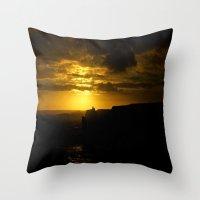 Sunset along the Great Southern Ocean - Australia Throw Pillow