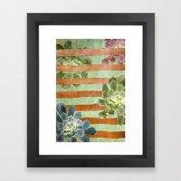 Copper Stripes And Succu… Framed Art Print
