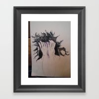 A Spiritual Being Having a Human Experience Framed Art Print