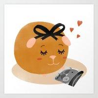 Guinea Pig Portrait 1 Art Print