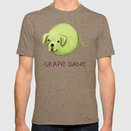 Grape Dane Mens Fitted Tee Tri-Coffee SMALL