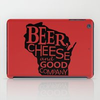 Red and Black Beer, Cheese and Good Company Wisconsin Graphic iPad Case