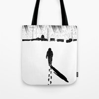 The Thing - Footprints in the snow Tote Bag