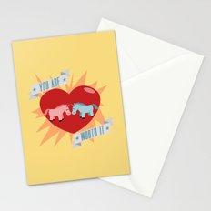 Unicorns are Worth It Stationery Cards