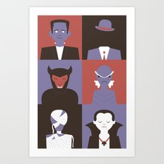 Monster Mash Purple Art Print