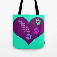 Dogs Leave Love Prints O… Tote Bag