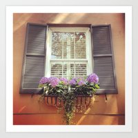 Savannah Window Art Print
