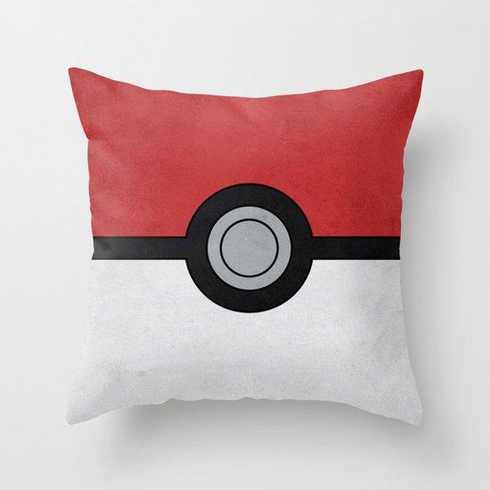 Minimal Pokéball Poster - Pokemon Classic Throw Pillow