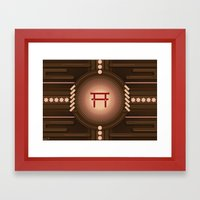 Torii no power Framed Art Print
