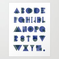 Letterpress Alphabet Art Print