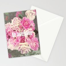 be awesome Stationery Cards