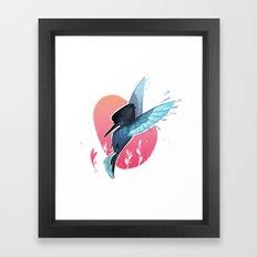 Little Hummer Framed Art Print
