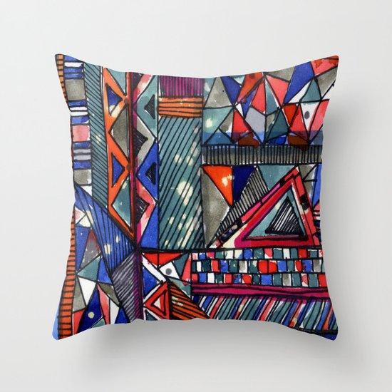 Tribal Texture Throw Pillow