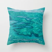 Mediterranean Water Throw Pillow