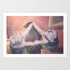 hipster triangel Art Print