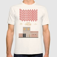 Mon Oncle - Jacques Tati Movie Poster Mens Fitted Tee Natural SMALL
