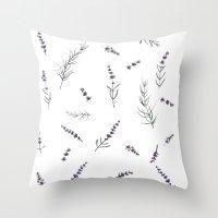 lavanda Throw Pillow