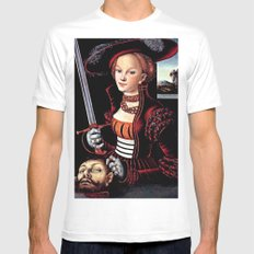 Judith with the Head of Holofernes Mens Fitted Tee White SMALL
