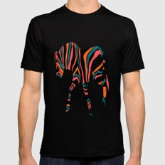 zebra animals  Mens Fitted Tee Black SMALL