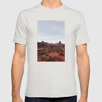 Monument Valley View Mens Fitted Tee Silver SMALL