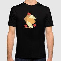 Apple Jack Black Mens Fitted Tee SMALL