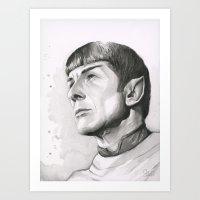 Star Trek Spock Portrait Art Print